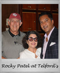 Rocky Patel with Brian and Susie at Telford's Pipe & Cigar