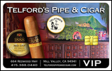 The VIP Card Available at Telford's Pipe & Cigar
