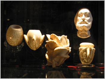 Meerschaum pipes at Telford's Pipe & Cigar